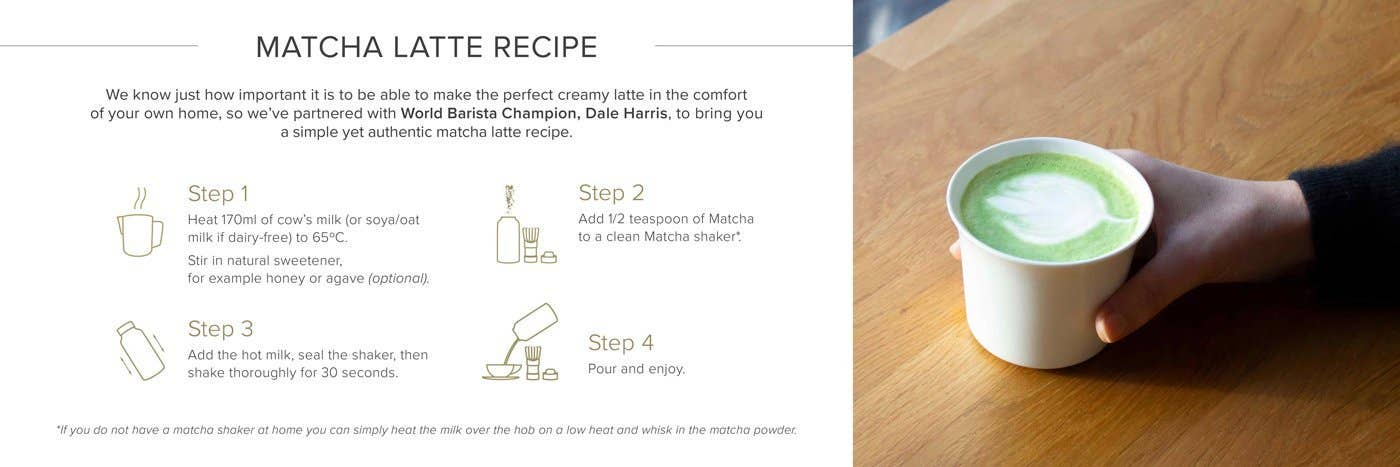JING PERFECT MATCHA LATTE RECIPE