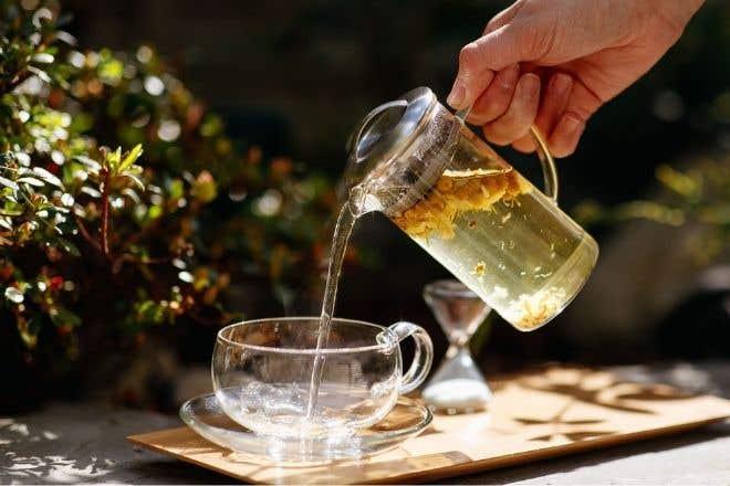 Glass Cup & Saucer